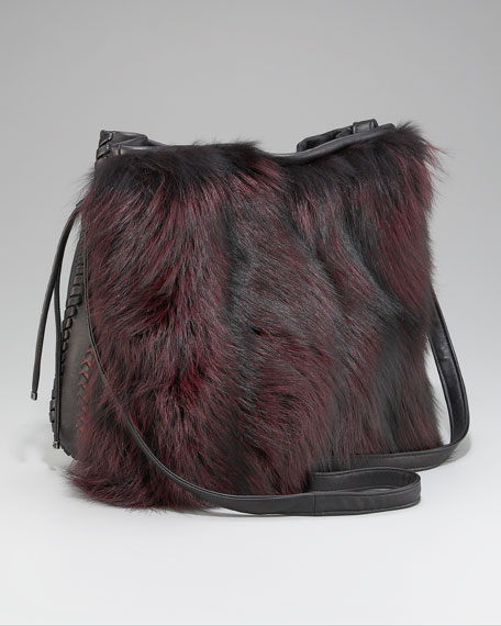 Chelsea Fur Drawstring Bag