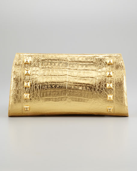 Pyramid-Stud Razor Clutch Bag