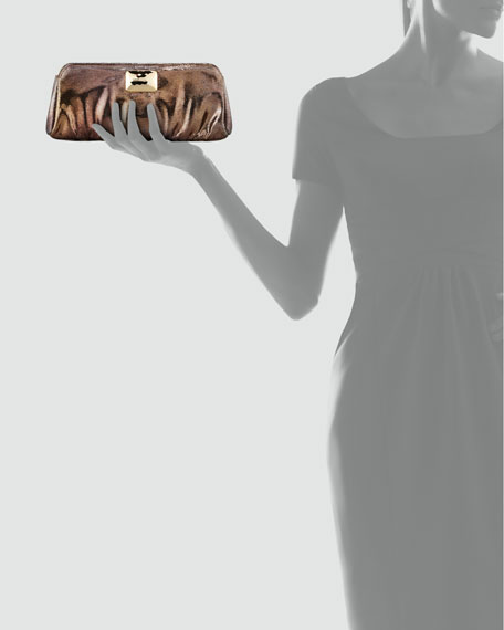 Crosby Cosmic Metallic Clutch Bag