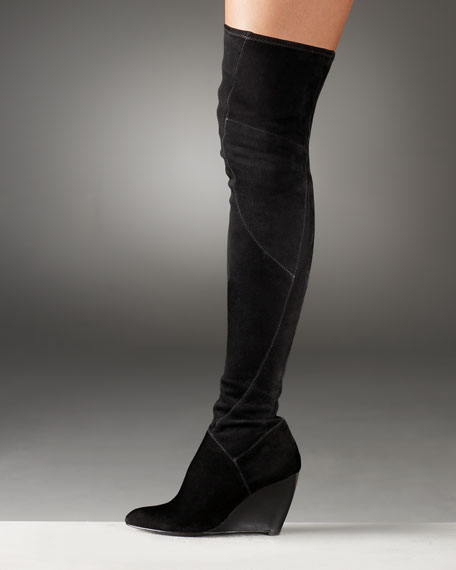 Belle By Sigerson Stretch-Suede Over-the-Knee Boot