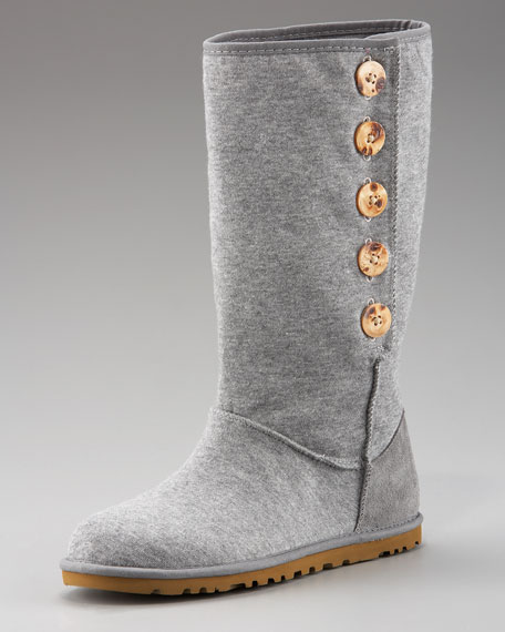 Button Boot, Heather Gray