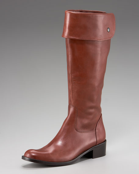 Cuffable Leather Riding Boot