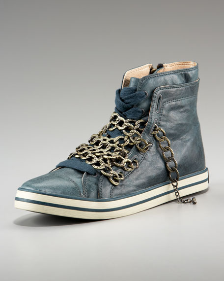 Chain High-Top Sneaker