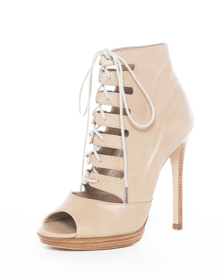 Lace-Up Bootie, Sand