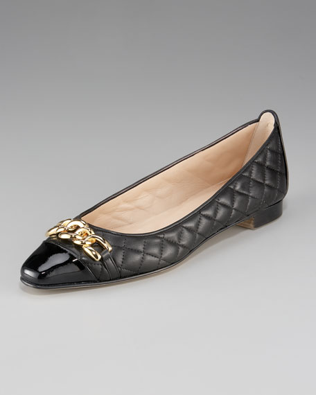 Chain-Toe Quilted Flat