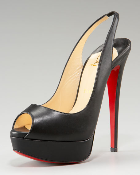 Lady Peep-Toe Slingback Pump