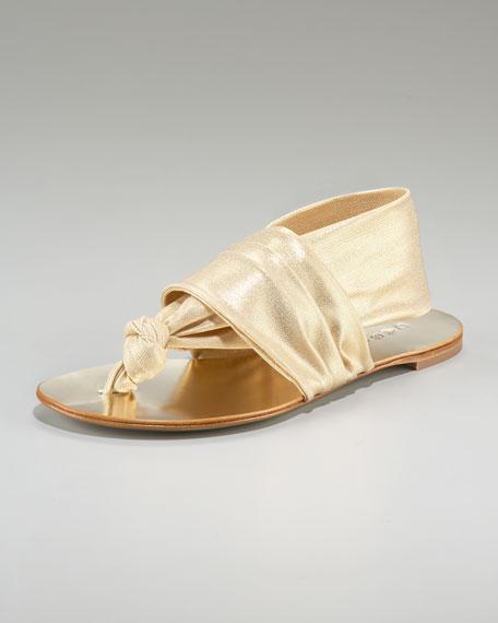 Cuffed Mesh Thong Sandal