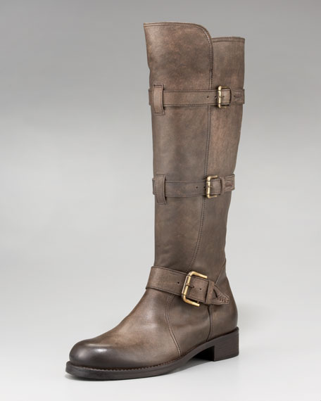 Alberto FermaniTriple-Buckle Knee Boot