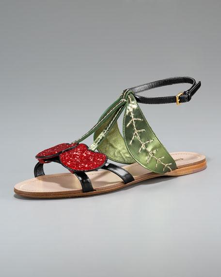 Cherry Flat Sandal