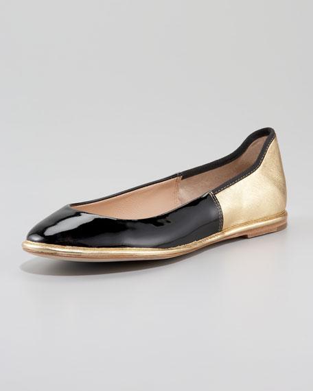 Botswana Two-Tone Ballerina Flat