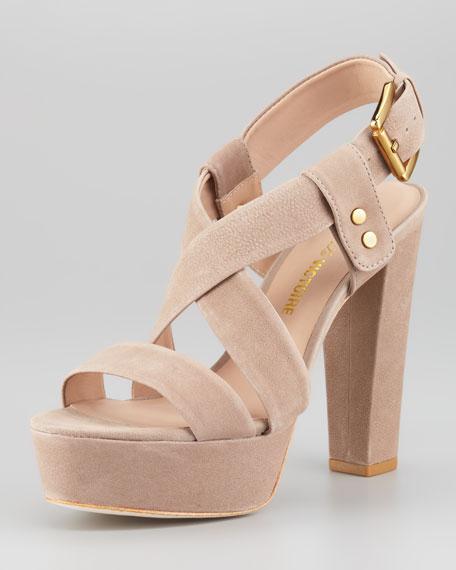 Nealla Nubuck Platform Sandal