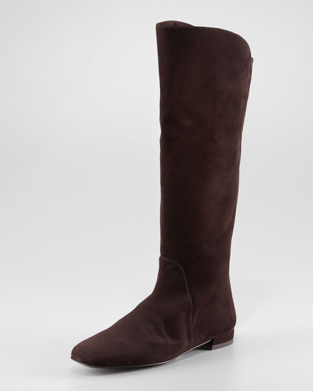 Halftime Suede Boot with Stretch-Fabricack