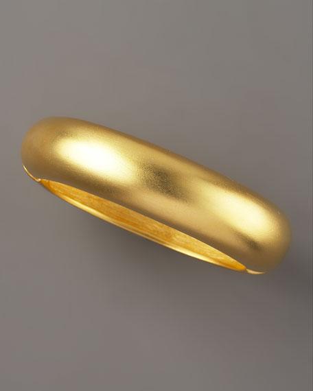 Golden Oval Hinge Bangle