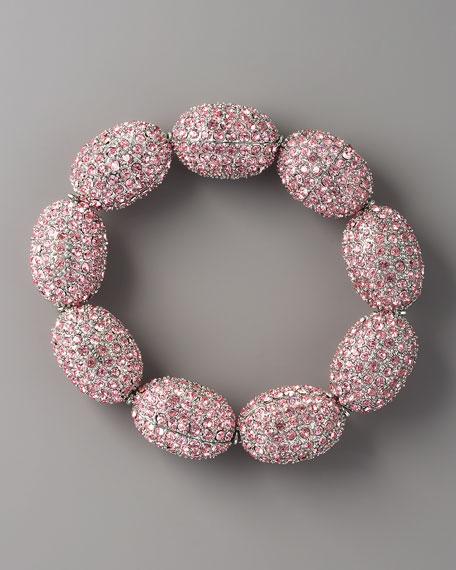 Czech Glass Bracelet, Pink