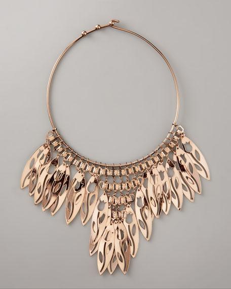 Leaf Fringe Necklace