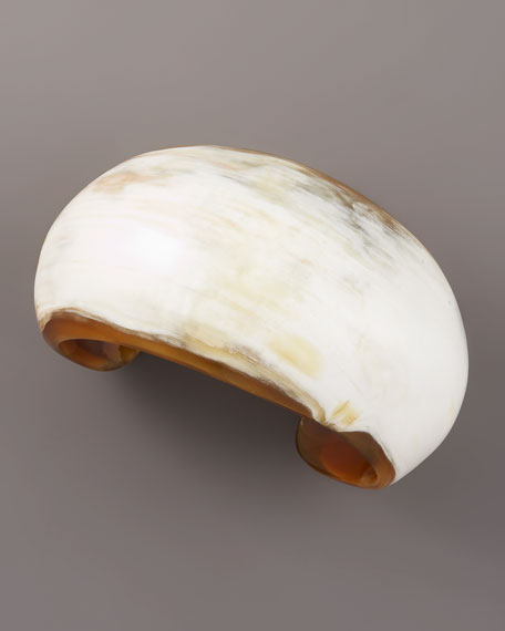 Polished Horn Dome Cuff