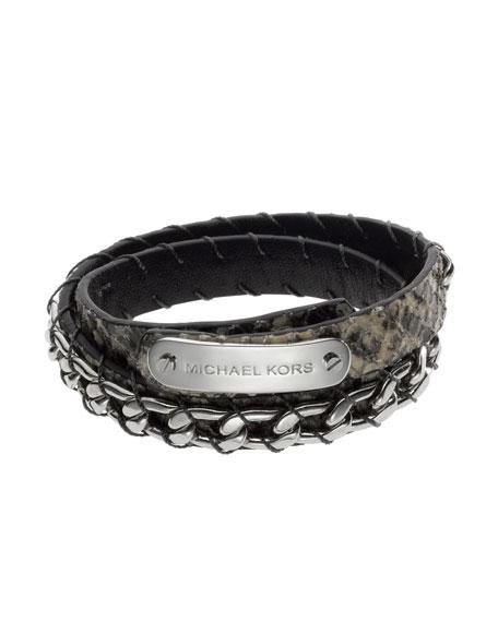 Python-Embossed Wrap Bracelet