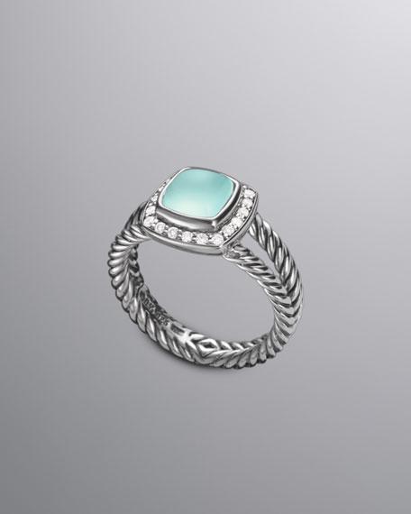 Petite Albion Ring, Aqua Chalcedony