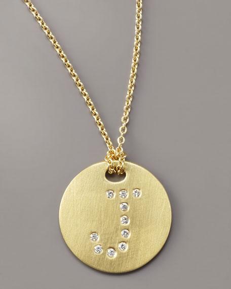 Letter Medallion Necklace, J