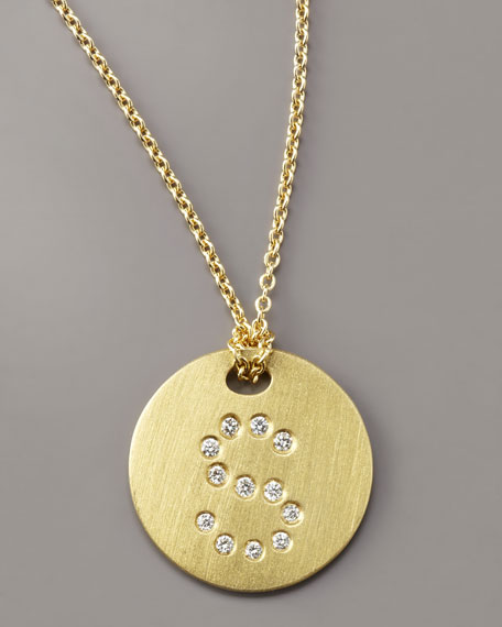Roberto Coin Letter Medallion Necklace, S