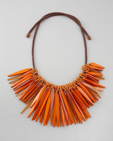Small Cluster Necklace, Tangerine