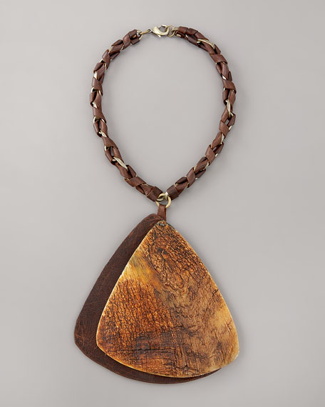 Wooden Pendant Necklace