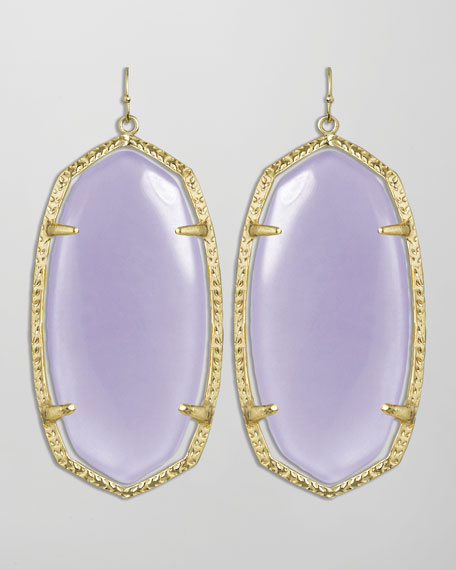 Danielle Earrings, Lilac
