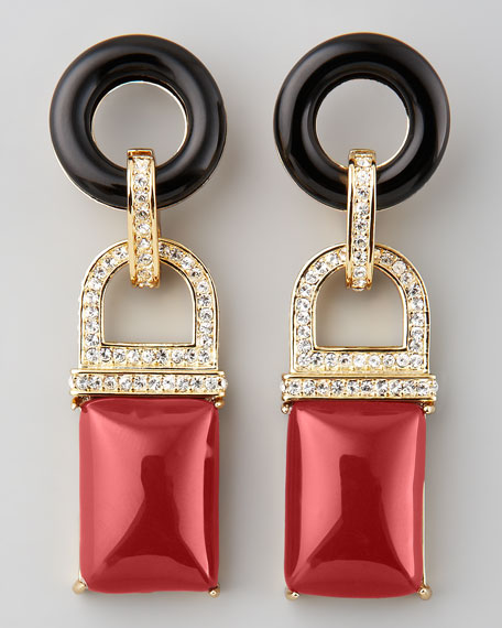 Square Drop Earrings