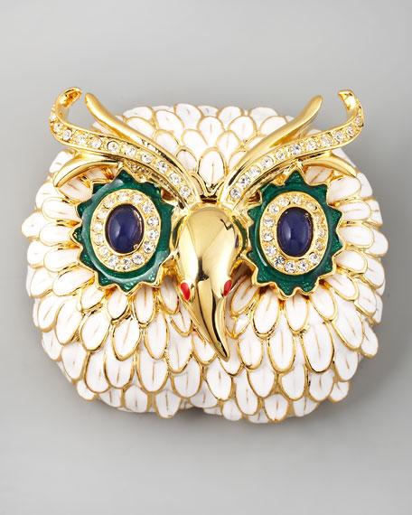 White Owl Pin