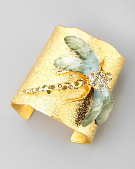 Golden Allegory Dragonfly Cuff