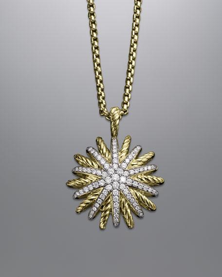 Starburst Pendant with Diamonds on Chain