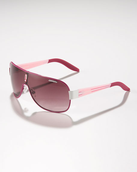 Children's Classic Carrerino Shield Sunglasses, Fuchsia/Pink