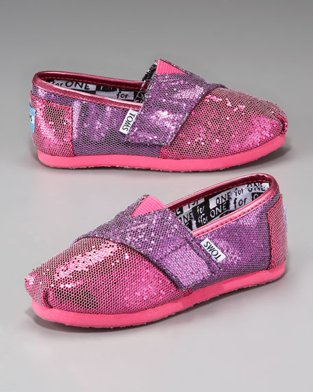 Colorblock Glitter Shoe, Tiny