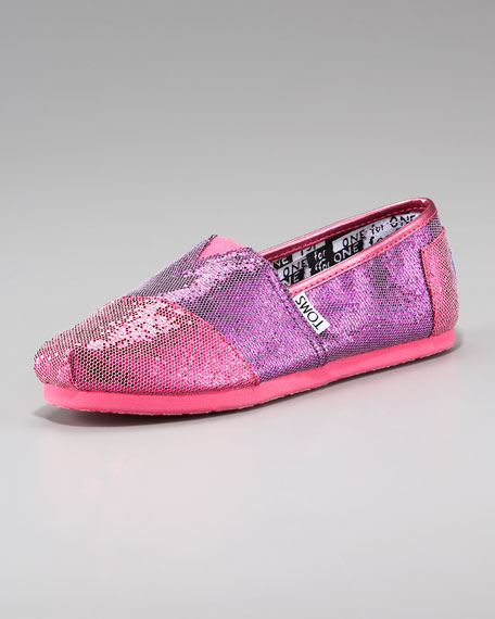 Colorblock Glitter Shoe, Youth