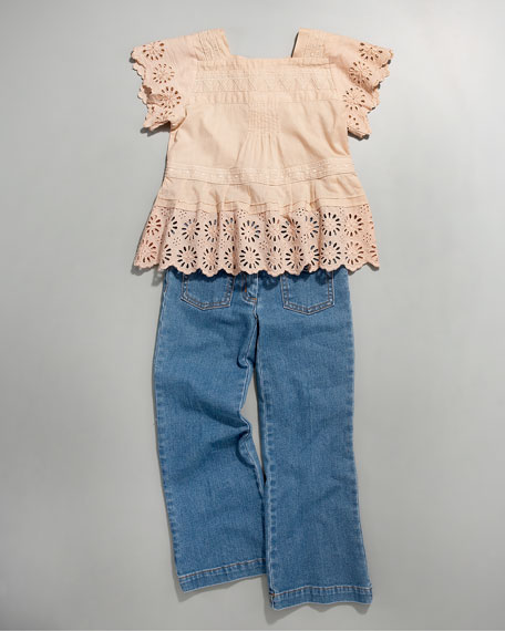 Front-Pocket Flare Jeans