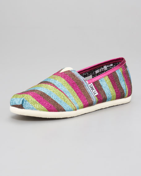 Youth Glitter Slip-On, Rainbow