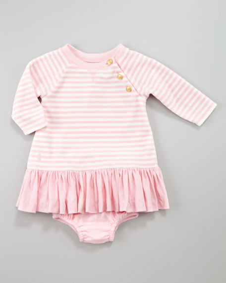 Striped Velour Dress, 3-9 Months