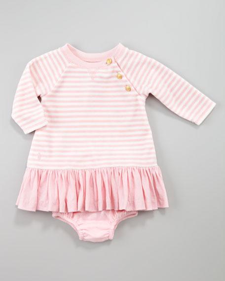 Striped Velour Dress, 12-24 Months