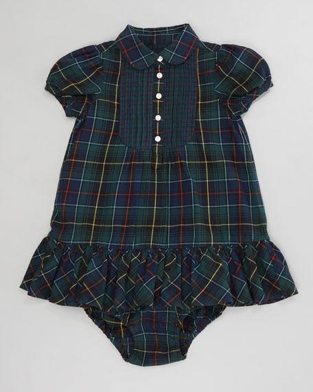 Mixed Tartan Bib Dress, 12-24 Months