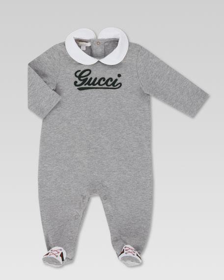 Gucci-Script Jersey Sleepsuit