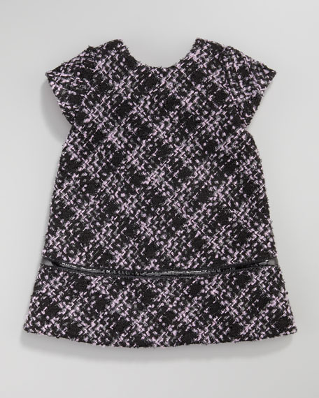 Boucle Bow-Back Dress, 12-24 Months