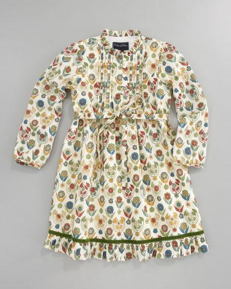 Printed Pleated Tunic Dress