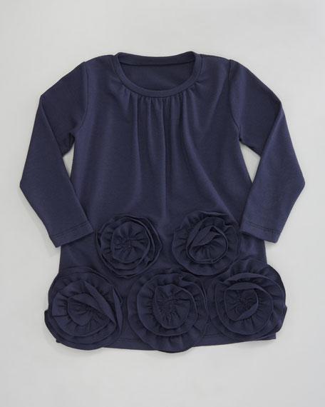 Ruffle Flower Jersey Dress, 12-24 Months