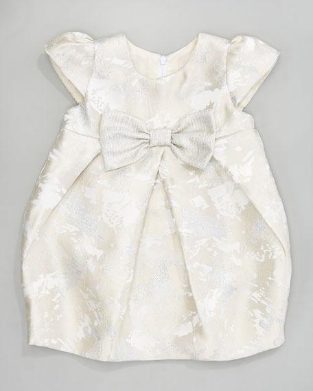 Sparkle Jacquard Bow Dress, 12-24 Months