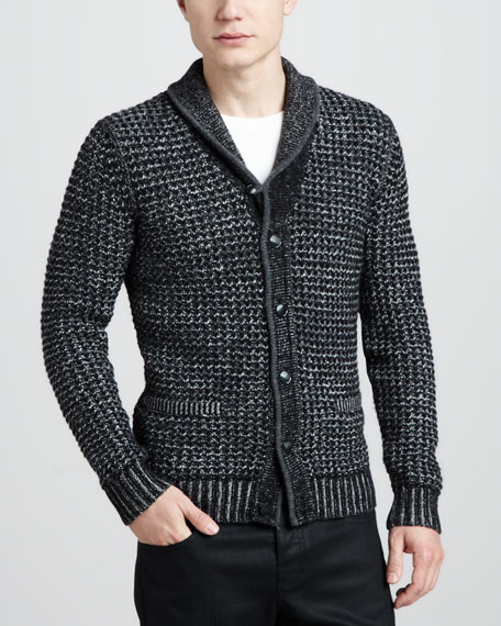 NM + Target Men's Heathered Shawl-Collar Cardigan - Rag & Bone NM + Target Men's Heathered Shawl-Collar Cardigan