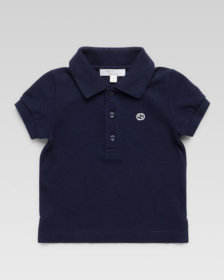 Short Sleeve Polo Shirt, Navy