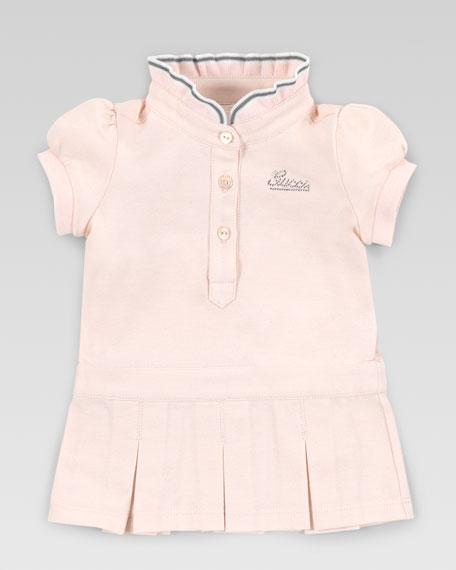 Crystal Gucci Logo Knit Dress, Powder Pink