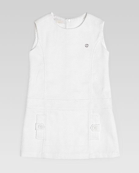 Cotton Pique Shift Dress