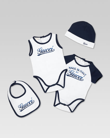 Made in Italy by Gucci Four-Piece Set, White/Navy
