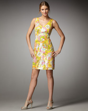 kate spade naomi paisley print dress